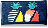 Takeaway Checkbook Wallet , Navy Multi, One Size