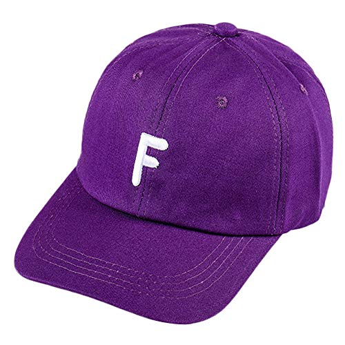 2019 New Baseball Golf Cap Vintage Letter Embroidery Twill Cotton Venting Hole Adjustable Visor Sun Hat by Fulijie Purple