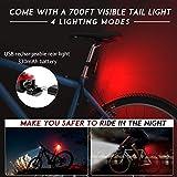 TESECU LED Bike Light USB Rear Bicycle Light