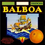 Anaheim Balboa Orange Citrus Fruit Crate Box Label Art Print