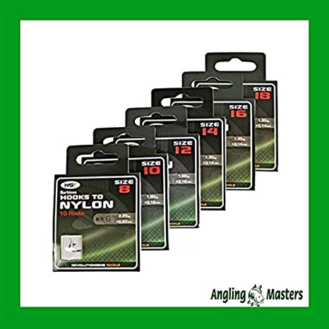 30 FTD Barbless Fishing Hooks to Nylon Size 6,8,10,12,14,16 /& 18 to Pick /& Mix