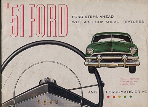 Ford V8 Motors (Ford V-8 Sales Brochure 1951-Flat head 100 hp V-8 motor-28 pages-VG)