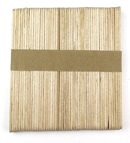 ALL in ONE 100pcs Natural Wood Color Craft Wood Sticks 114mm