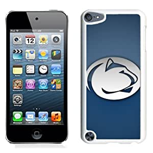 Fashionable And Unique Designed With Ncaa Big Ten Conference Football Penn State Nittany Lions 6 Protective Cell Phone Hardshell Cover Case For iPod 5 Phone Case White