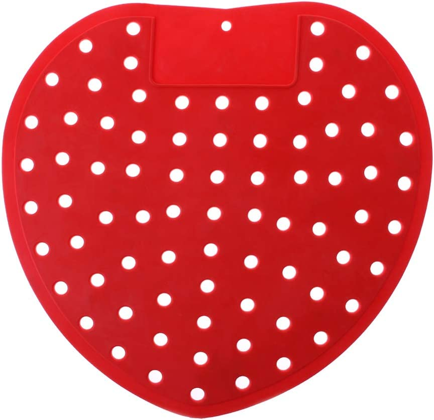 Rtengtunn Fragranced Deodorising Urinal Screen Mat Toilet Anti Blockage Pad Hotel Home Red