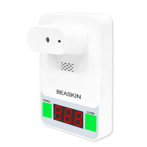 Wall Mounted Thermometer for Adults,beaskin Infrared Non-Contact Thermometer for Factories Shops Restaurants Rail Station Entrances School Office