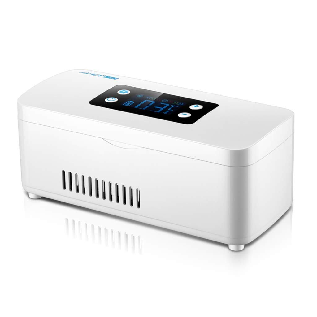 Outdoor Refrigerators Insulin Refrigerated Box Home Portable Smart Car Rechargeable Smart Small Refrigerator Refrigeration Medicine Refrigerated Box (Color : White, Size : 2099.5cm)
