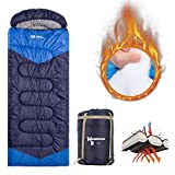 HUGEROCK Sleeping Bag for Camping, Hiking Sleeping bag, Outdoor Warm Comfortable Envelop Sleeping bag, Lightweight Sleeping Bag in Blue (G)