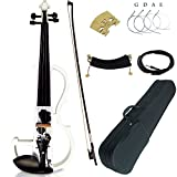 Gift Ideas For Kid/Adult Leeche Solid Wood Electric/Silent Violin Ebony Fittings Full Size 4/4-0012