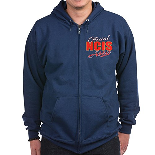 CafePress Official NCIS Addict - Zip Hoodie, Classic Hooded Sweatshirt With Metal Zipper Addict Zip Hoodie