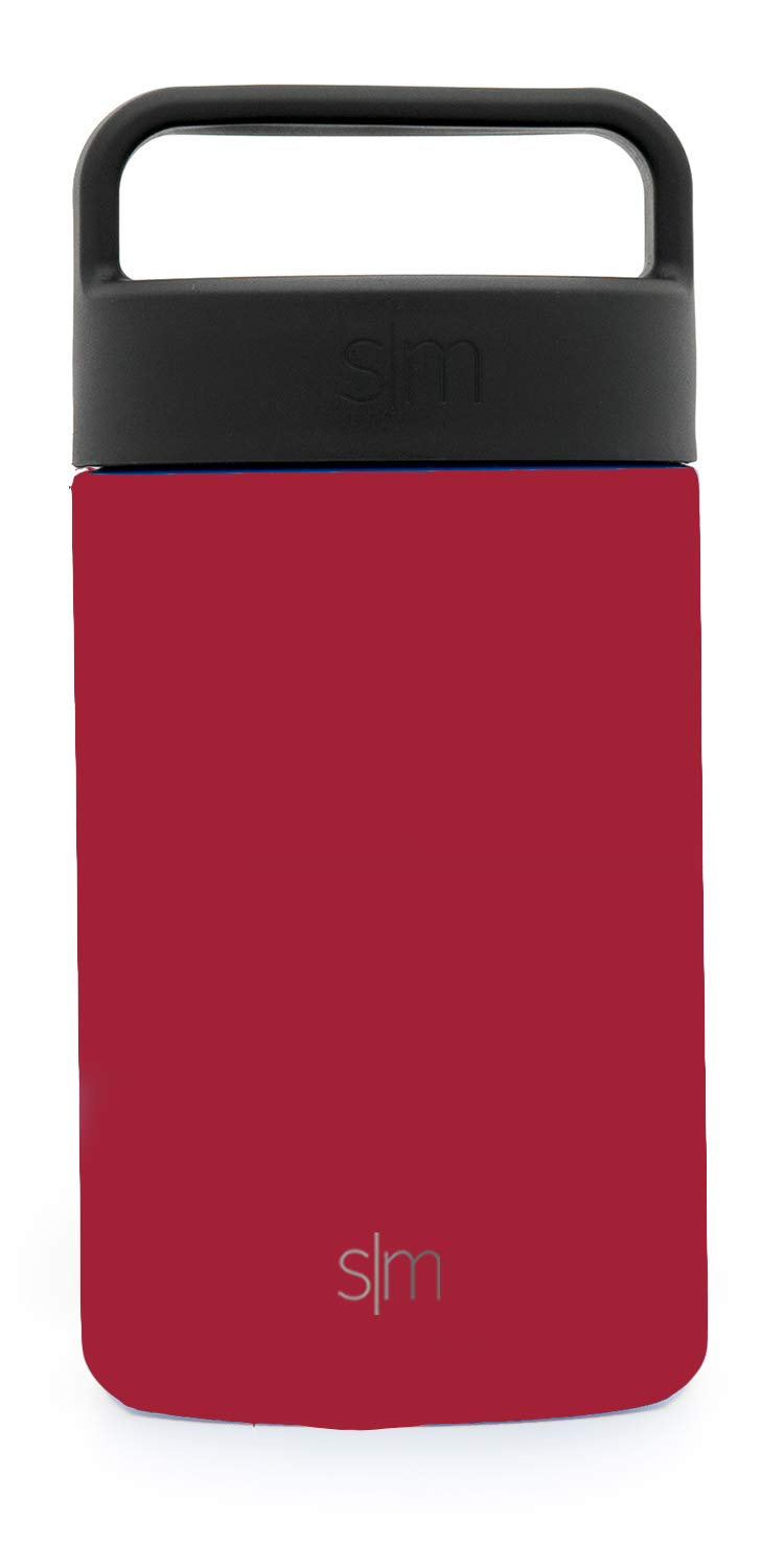 Simple Modern 16oz Provision Food Jar with Handle Lid - Vacuum Insulated Thermos 18/8 Stainless Steel Hydro Leak Proof Food Storage Container Flask - Cherry