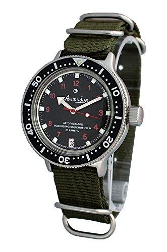 AMPHIBIA 200m VOSTOK AUTOMATIC MECHANICAL WATCH WITH CUSTOM BEZEL! NEW! 2416/420280 (Vostok Mechanical Wrist Watch)