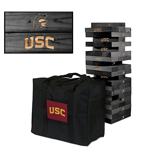 NCAA Southern California Trojans USC 929317Southern California Trojans USC Onyx Stained Giant Wooden Tumble Tower Game, Multicolor, One Size by Victory Tailgate