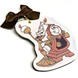 Disney Beauty and the Beast slide mirror (Lumiere and Cogsworth)