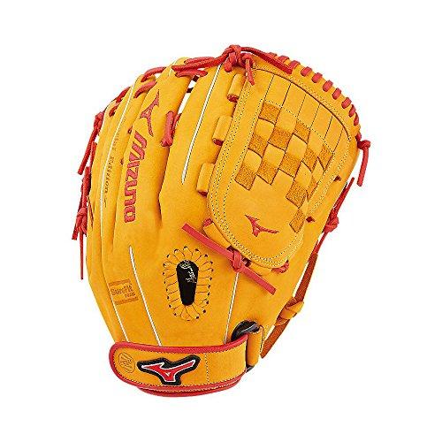 Mizuno MVP Prime SE Fastpitch GMVP1300PSEF6 Outfield/Pitcher Model Gloves, Cork/Red