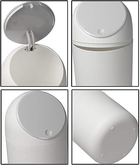 Lesbye 1.8 L M/üLltonne Kunststoff M/ülleimer Schwarz Abfallbeh/älter mit Deckel Abfalleimer Kleiner Eimer Kunststoff