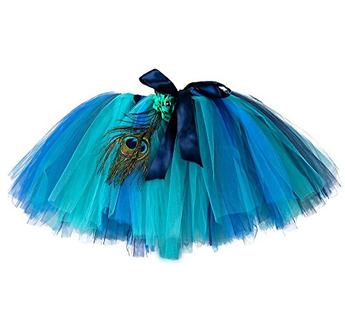 Tutu Dreams Adult Women Halloween Role Play Costume Tutu Skirt (Free Size, Peacock)]()