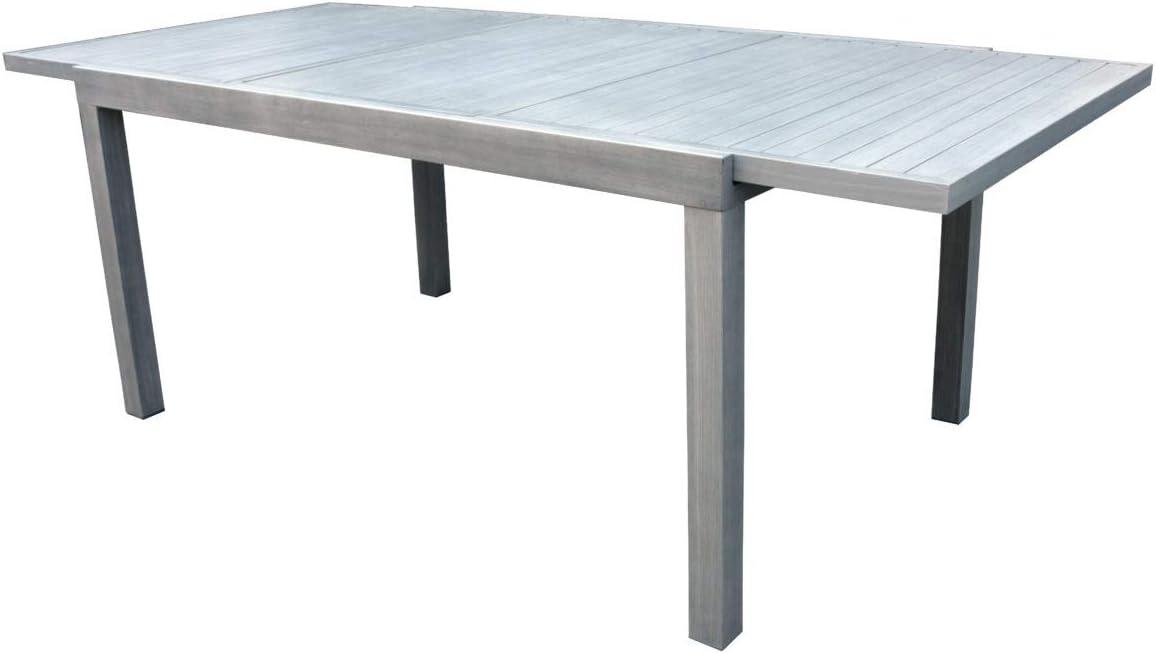 Grupo maruccia Mesa de Aluminio Efecto Madera Extensible para ...