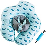 Emma + Ollie Inflatable Baby Float Ring, Round Swim Float, Children Waist Float Ring Inflatable Floats Pool Toys Swimming Pool Accessories for The Age of 3 Month- 3 Years (Blue Whale, L)