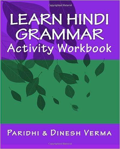 Amazon.com: Learn Hindi Grammar Activity Workbook (Hindi Edition ...