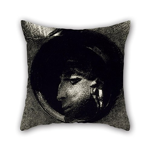 [Beautifulseason 18 X 18 Inches / 45 By 45 Cm Oil Painting Odilon Redon - Cellule Auriculaire Cushion Covers ,two Sides Ornament And Gift To Kids Room,dining] (National Costume Of India Images)