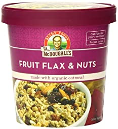 Dr. McDougall\'s Right Foods Fruit, Flax and Nuts Oatmeal Made with Organic Oats, 2.7 Ounce (Pack of 6)
