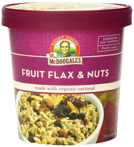 Dr. McDougall's Right Foods Fruit, Flax and Nuts Oatmeal Made with Organic Oats, 2.7 Ounce (Pack of 6) - Organic Oatmeal Flax