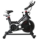 NexHT Fitness Exercise Cycle Bike (89101A) Indoor Workout Cycling Bike w/LCD Monitor& Heart Pulse Sensors,Max User Weight:280lbs,Full Adjustable Health Sport Trainer Stationary Bicycle -Black