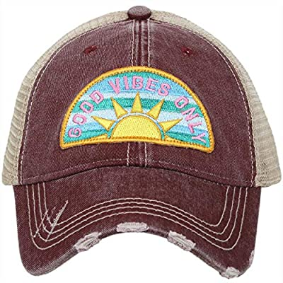 Katydid Womens Good Vibes Sunshine Patch Trucker Hat