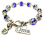 Oma Capped Crystal in Sapphire Blue Chubby Chico Charms Exclusive