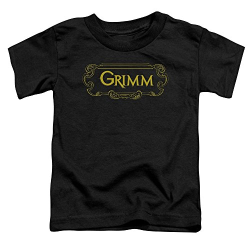 Grimm - Toddlers Plaque Logo T-Shirt, 2T, Black
