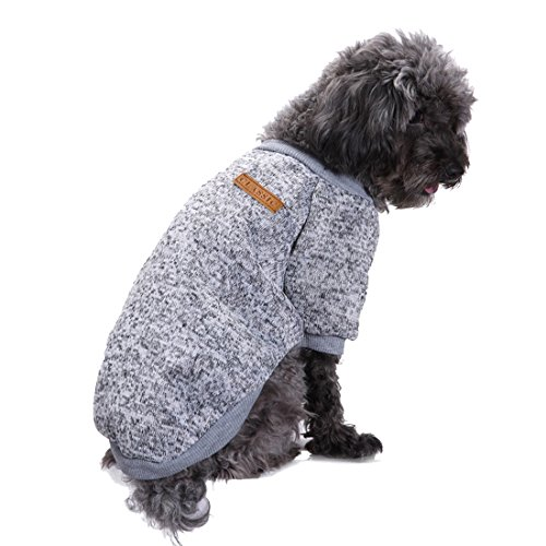 Pullover Fleece Puppy - GabeFish Dogs Clothes Pullover Fleece Hoodie for Small Medium Puppy Pets Cats Autumn Winter Apparel Sweatshirt Gray X-Small