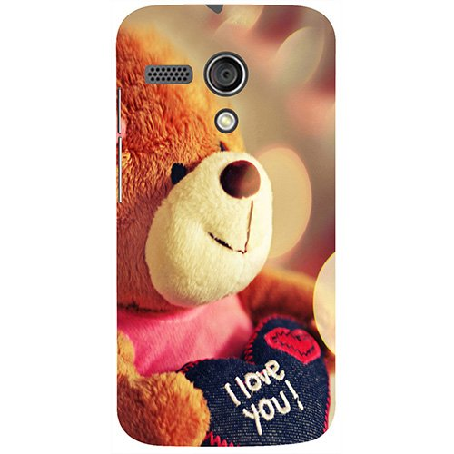 Casotec Teddy Bear Design 3D Printed Hard Back Case Cover for Motorola Moto G 1st Generation