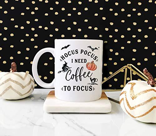 Hocus Pocus I Need Coffee To Focus Mug, Halloween Mug, Fall Mug, Fall Coffee Mug, Autumn Mug, Gift for Her, Hocus Pocus Mug, Funny Mug, -