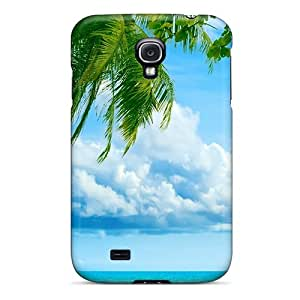 High Quality Shock Absorbing Case For Galaxy S4-tropical Paradise Beach And Palm Tree