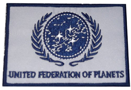 (Star Trek TNG United Federation of Planets Blue on White Embroidered Patch)