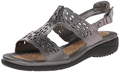 Hush Puppies Regina Keaton - Sandalias de Vestir de cuero Mujer Dark Pewter Leather