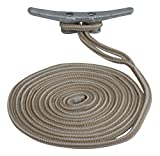 Sea Dog 302110010G/W-1 Double Braided Nylon Dock Line, 3/8'' x 10' / Gold/White
