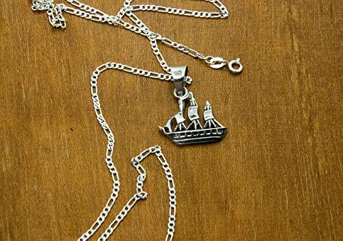 Dije de Plata Barco el Perla Negra con Cadena