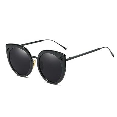 Wunderschöne Vintage Runde Sonnenbrille Trend Männer und Frauen große Runde Brille ( Color : Gold , Größe : One size )