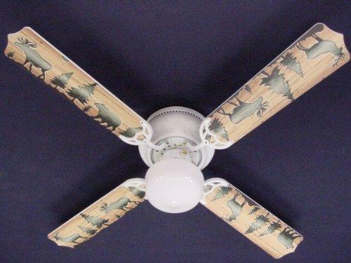 Ceiling Fan Designers Ceiling Fan, Bear Moose Deer, (Designer Hugger Fan)