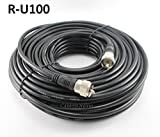 CablesOnline 100ft RG8x Coax UHF (PL259) Male to Male 50 ohm Antenna Cable - R-U100