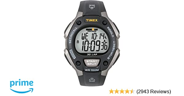 597032d980d Amazon.com  Timex Men s T5E901 Ironman Classic 30 Gray Black Resin Strap  Watch  Timex  Watches