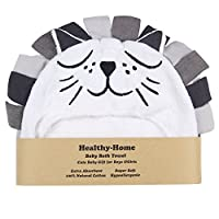 Healthy-Home Hooded Baby Bath Towel. Large 33x34 Inches,100% Organic Cotton, ...