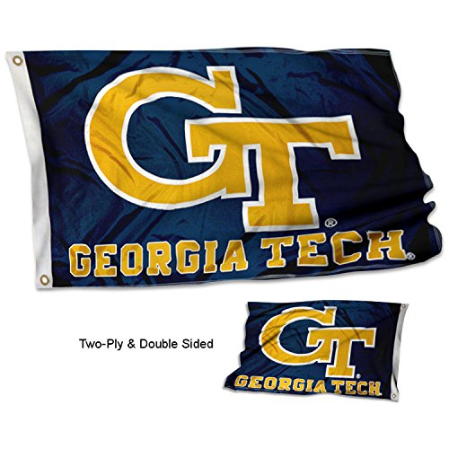 College Flags and Banners Co. Georgia Tech Yellow Jackets Double Sided Flag