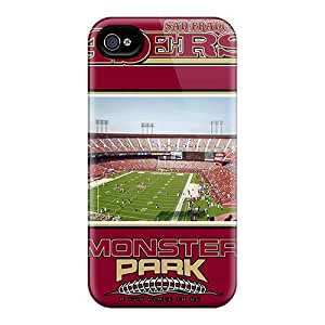 Hot Fashion Lmz133ddTT Design Case Cover For Iphone 4/4s Protective Case (san Francisco 49ers)