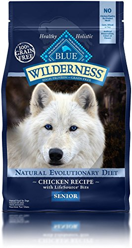 4.5 LB, Protein-Rich, Grain-Free Chicken Formula Senior Dog Food For Sale