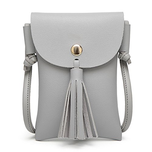 Franja VogueZone009 Compras Gris Pu Women's de Cartera Moda hombro Bolsas w1qa7AwT