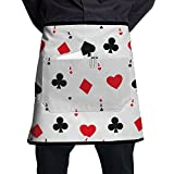 Awesome Poker Cards Adjustable Apron With Pocket For Kitchen BBQ Barbecue Cooking Ladyâ€s Men's Great Gift For Wife Ladies Men Boyfriend