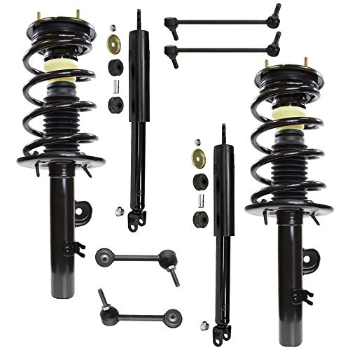 (Detroit Axle - 8PC Front Strut & Coil Spring Assembly and Rear Shock Absorber Assembly w/Sway Bars for 2010 2011 2012 Ford Flex Naturally Aspirated Models)